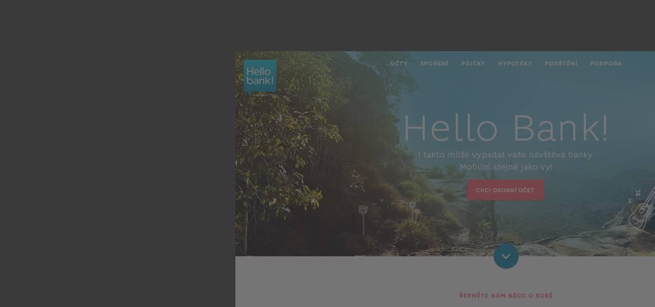 Ilustrační obrázek s textem - Pomohli jsme Cetelemu stát se Hello bank!